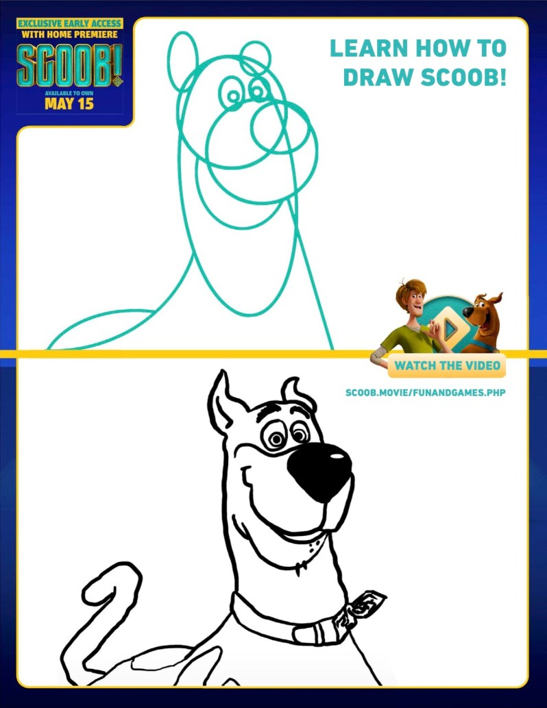 SCOOB Activity Sheets How To Draw Scoob