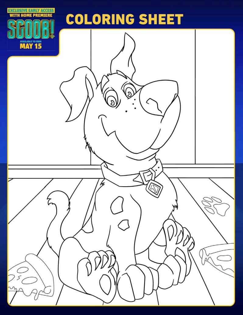 SCOOB Coloring Pages Scoob
