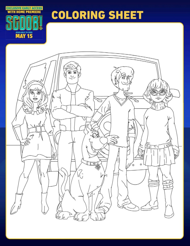 SCOOB Coloring Pages Scooby Doo Gang