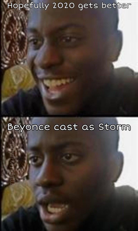 beyonce cast as storm memes
