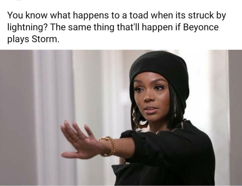 beyonce storm black panther memes