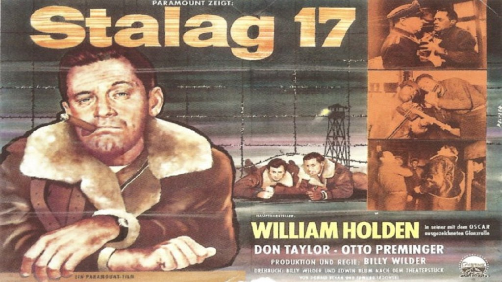 Affiche du film Stalag 17 de Billy Wilder. Anarchisme films prisonniers armée PoW