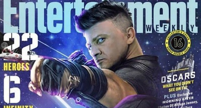 where is hawkeye in all of the promotion for 'avengers: infinity war'? ·
