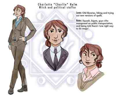 Character Design - Charlie Helm with colors
