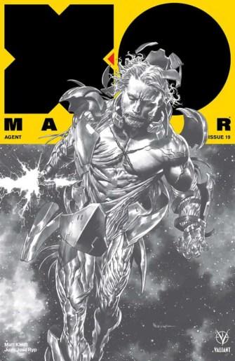 X-O MANOWAR (2017) #19 – X-O Manowar 75th Issue Variant by Mico Suayan