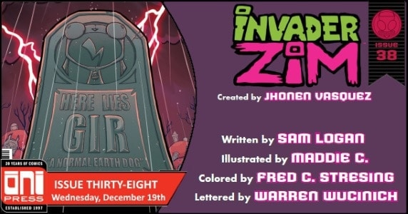 [Preview] Oni Press' 12/19 Release: INVADER ZIM #38