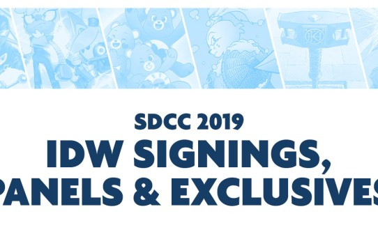 IDW Announces Signing Schedule, Panels, and Exclusives for San Diego Comic-Con International 2019