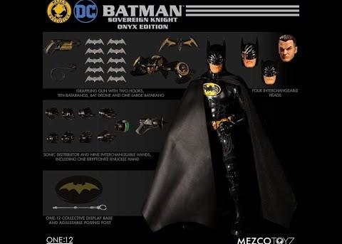 Mezco Toyz ONE:12 COLLECTIVE Batman: Sovereign Knight - Onyx Edition