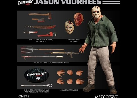 Mezco Toyz ONE:12 COLLECTIVE Jason Voorhees from Friday The 13th Part 3
