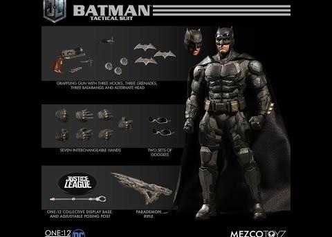 Mezco Toyz ONE:12 COLLECTIVE Tactical Suit Batman