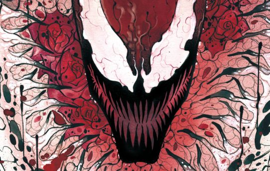 CARNAGE UNLEASHED ON PEACH MOMOKO'S CARNAGE: BLACK, WHITE, & BLOOD #1 COVER