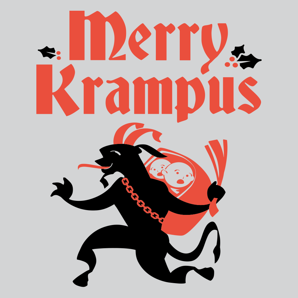 Merry Krampus T Shirt Variation 2 PopCult Wear