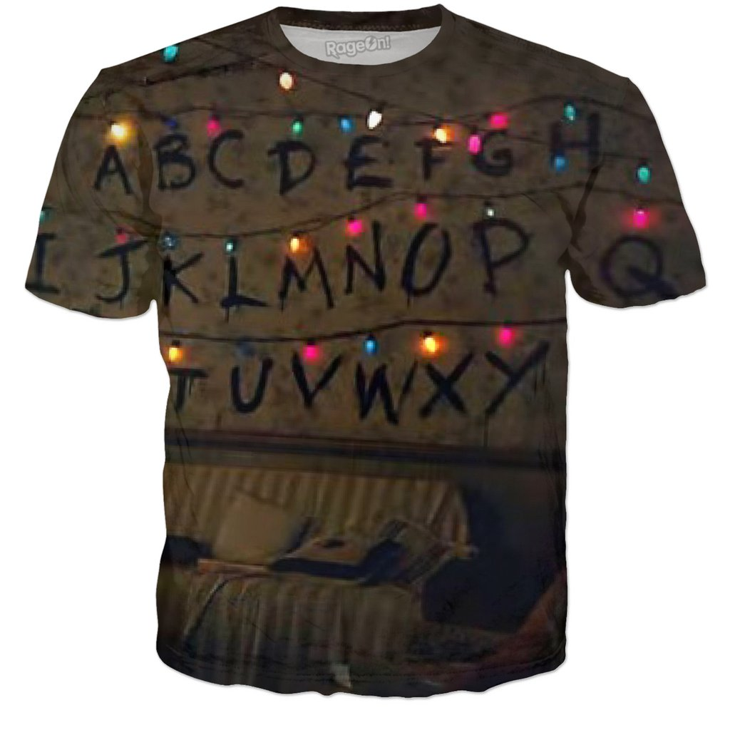 Stranger Things Christmas Lights Realistic T Shirt