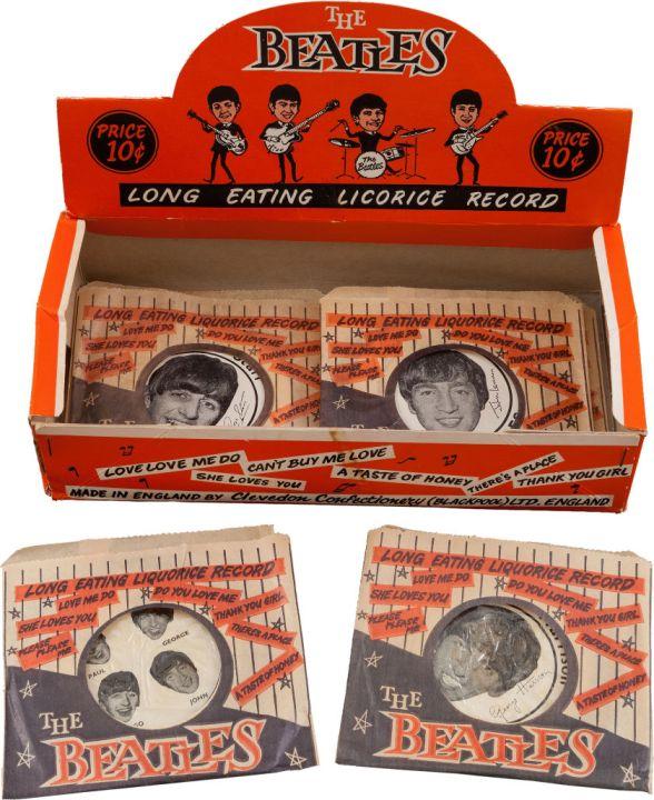 Beatles Licorice Box of Record Candies (Five) (UK, Circa 1963)