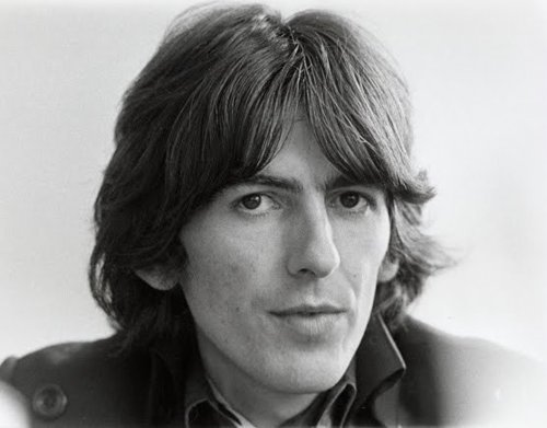 Black And White Cute George Harrison The Beatles