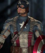 Chris Evans as Captain America in Captain America: The First Avenger