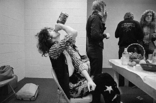 Jimmy Page Drinking JD