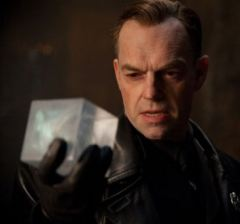 Hugo Weaving as the Red Skull holding the Cosmic Cube in Captain America: The First Avenger