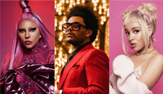 Lady Gaga, The Weeknd e Doja Cat