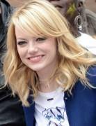 Emma Stone Medium Layered Hairstyles 2013