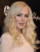 Lindsay Lohan Blonde Long Curly Hair Styles