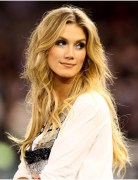 Blonde,Tousled,Center Part Hairstyles, Delta Goodrem Long Hair