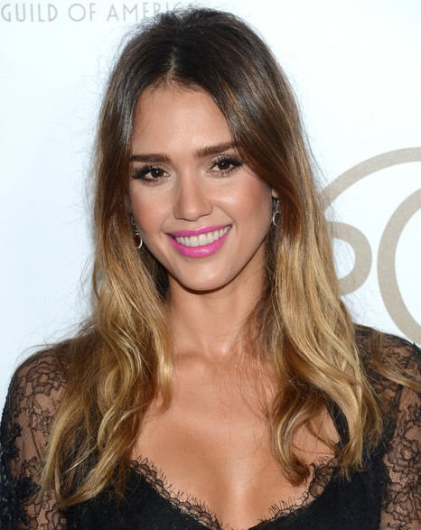Jessica Alba Hair Styles Ombre Long Hairstyle PoPular