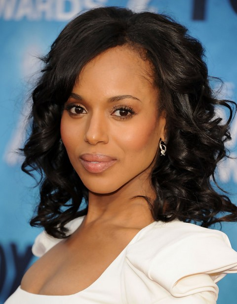 Kerry Washington Hairstyles Big Curls PoPular Haircuts