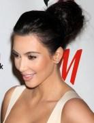 Kim Kardashian Long Hairstyles: High Voluminous Updo Hairstyle