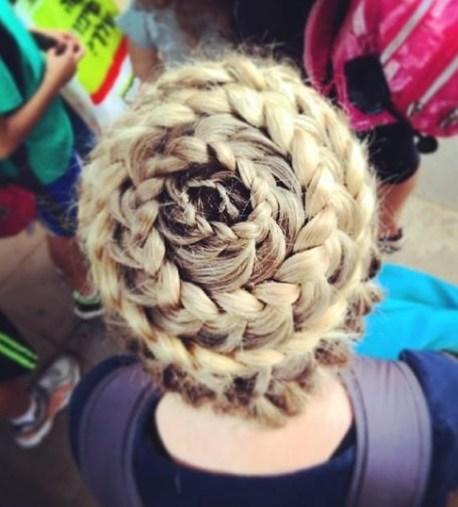 2014 Updo Hairstyles: Full head braid