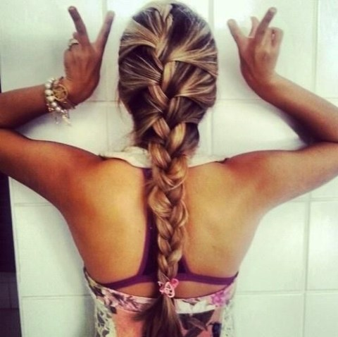 Braided Hairstyles: French Fishtail Braids for Summer 2014