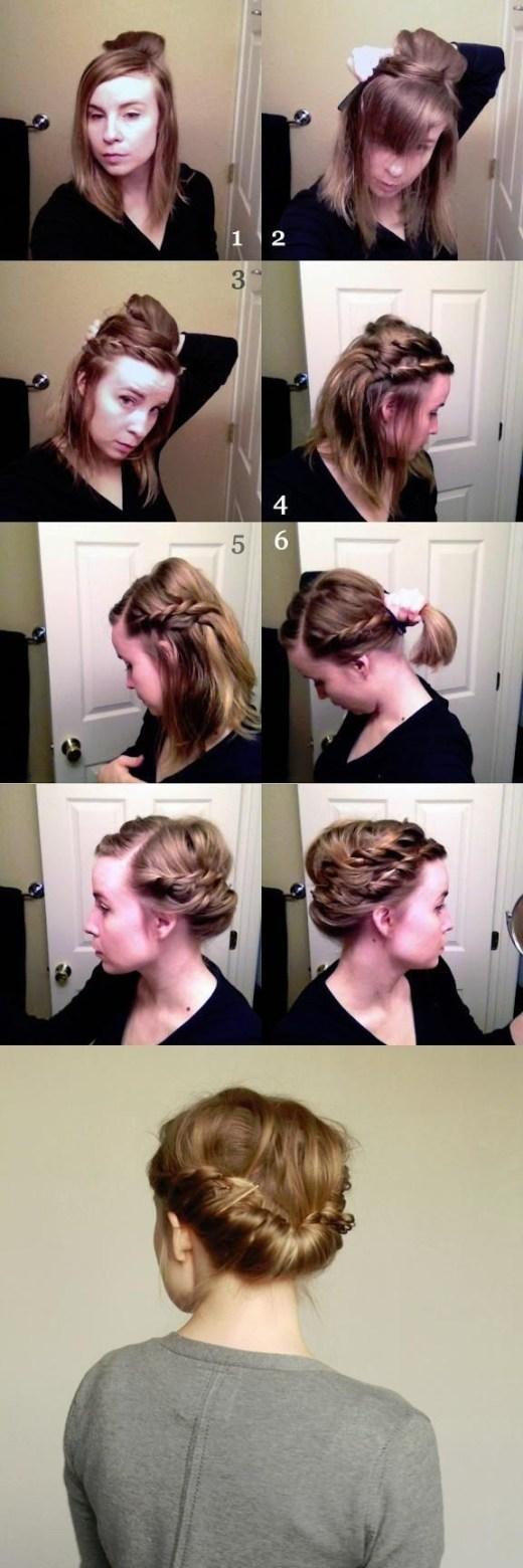 Double Braid Hairstyle Tutorial: Updos for Medium Hair