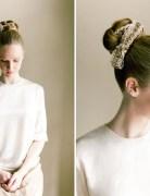 Fabric Bun Hair Tutorial: Wedding Braided Updo Hairstyle