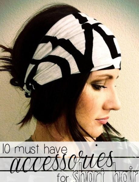 Short Hairstyles with Accessories for Winter