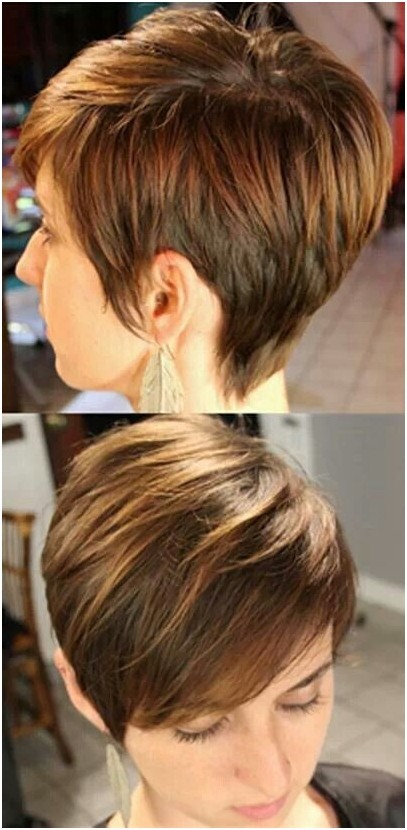 Best Short Layered Haircut: Side View