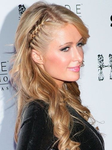 Paris Hilton Side Braided Hairstyle for Summer and Fall