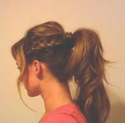 Casual Girly Style: Braid with Ponytail