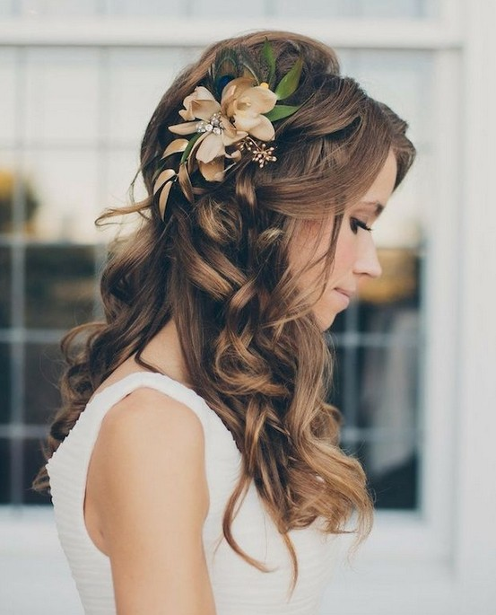 gorgeous half up half down hairstyles for wedding bride hair styles 2015