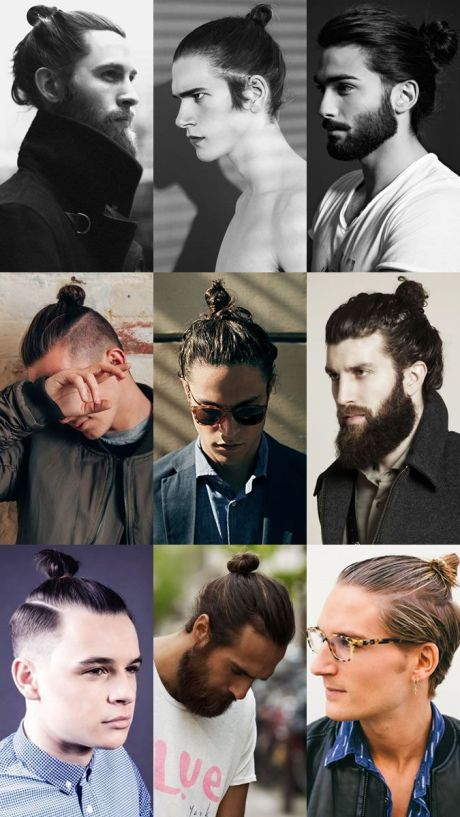 Best Haircuts for Men - Long Hair with Bun
