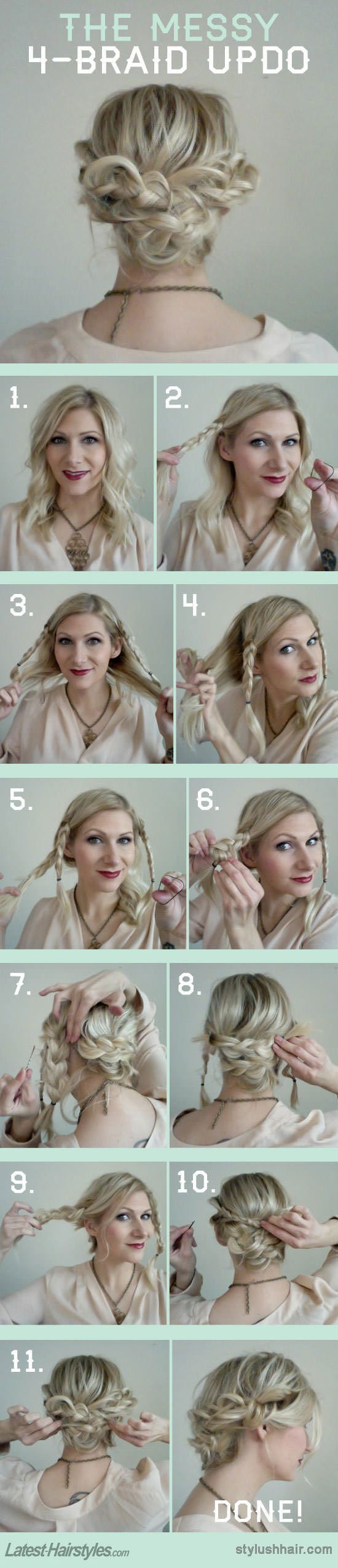 15 fresh updo's for medium length hair - popular haircuts