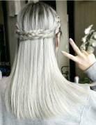 Simple Braid Hairstyle with Medium Straight Hair