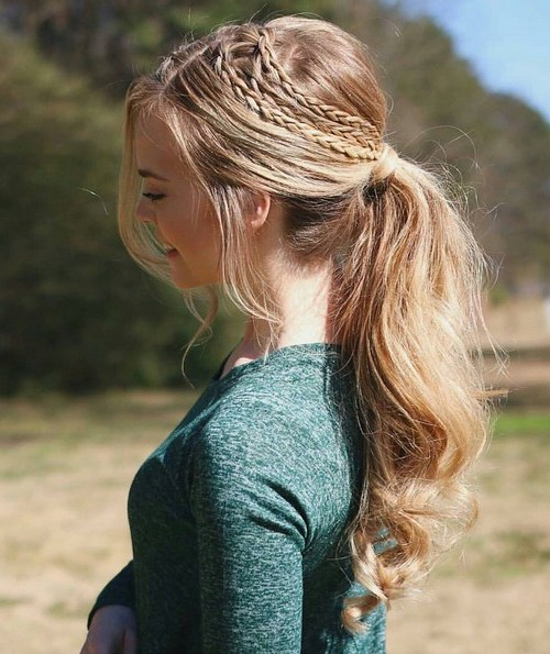 gorgeous braided ponytail - Cute, Everyday Hairstyles for Women