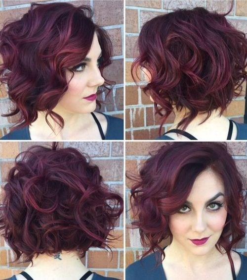 Messy Curly Bob Hairstyle - Stylish Office Hairstyles 2016