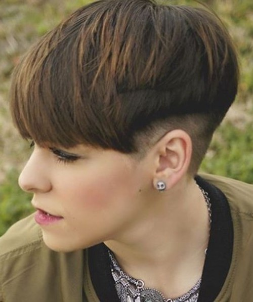 Bowl Cut - Undercut with Short Thick Hair - Balayage Hairstyles