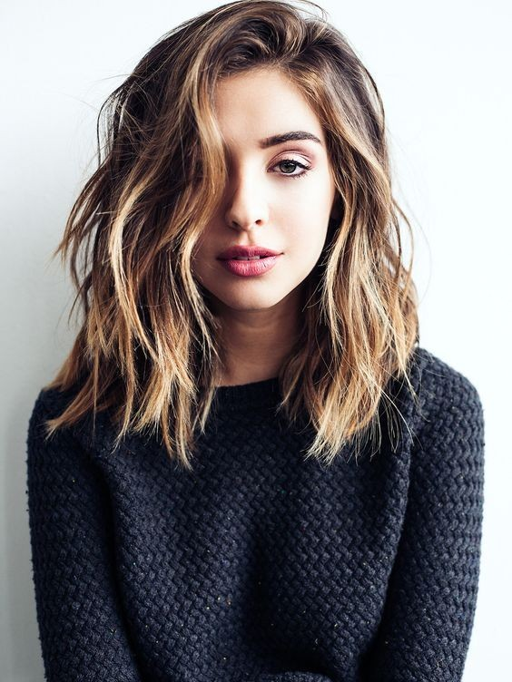 Easy Shoulder Length Haircut For Thick Hair Medium Style And Color 2017