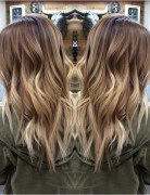 Pretty, Layered Wavy Hairstyles for Long Hair - Blonde Balayage Ombre Hair Style