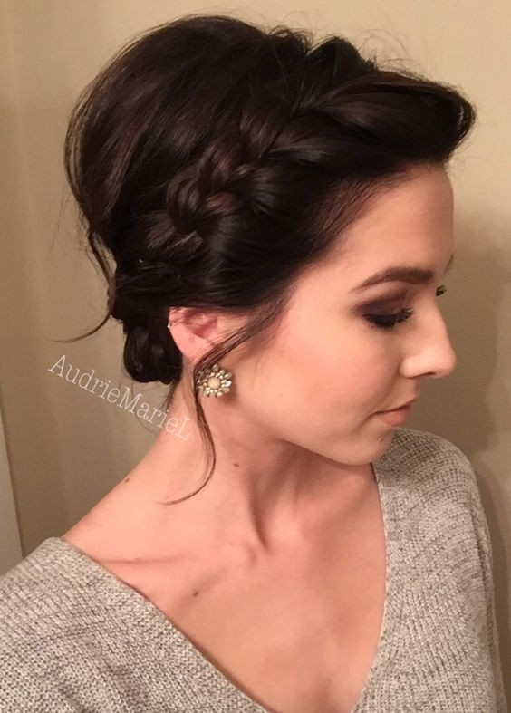Braided Updo for Short Hair - Prom Hairstyles 2016 - 2017
