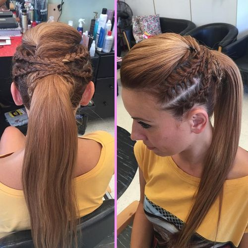 19 Pretty French Braid Ponytail Ideas  Summer Hairstyles for 2017 Crown Braids and Ponytail