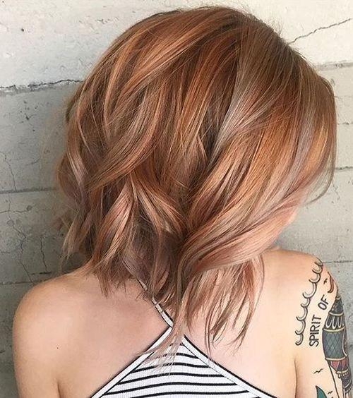 Balayage Bob Hairstyles for Thick Hair - Shoulder Length Haircut Ideas