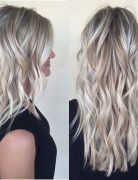 Layered Wavy Long Hair - Balayage Long Hairstyles for Thick Hair